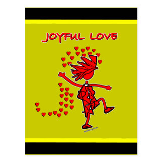 Amor alegre postales