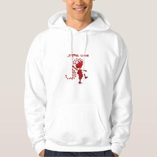 Amor alegre pulóver con capucha