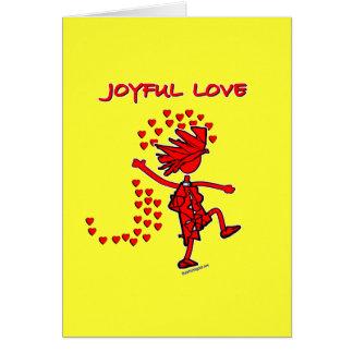 Amor alegre tarjeta de felicitación
