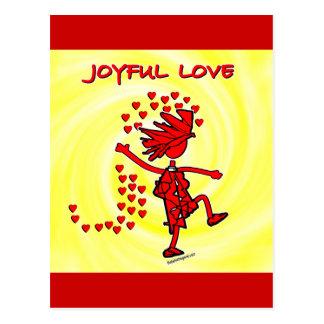 Amor alegre tarjeta postal