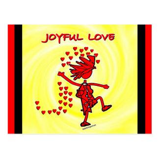 Amor alegre tarjetas postales