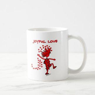 Amor alegre taza básica blanca