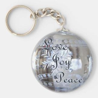 ¡Amor, alegría, paz! Llavero Redondo Tipo Pin