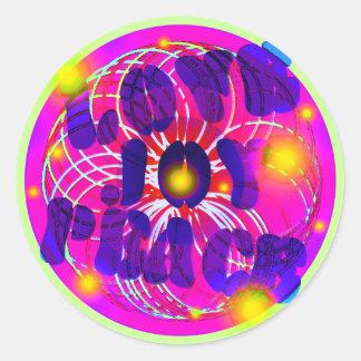 Amor, alegría, paz pegatina redonda