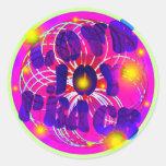 Amor, alegría, paz pegatinas redondas