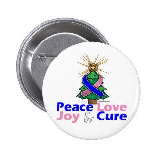 Amor alegría y curación azules y rosados de la pa pin