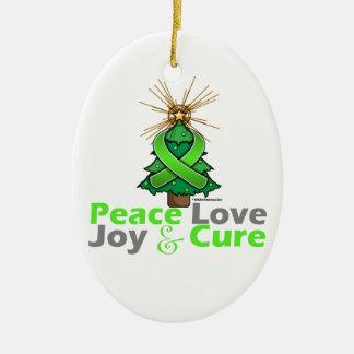 Amor alegría y curación de la paz del navidad de ornamentos de reyes magos