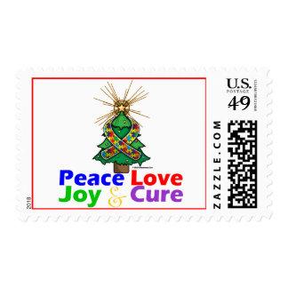 Amor, alegría y curación de la paz del navidad de envio