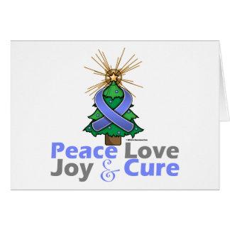 Amor, alegría y curación de la paz del navidad de  tarjetón