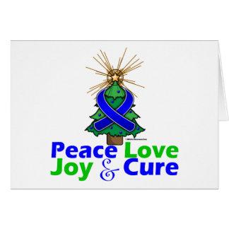 Amor, alegría y curación de la paz del navidad de tarjeta de felicitación