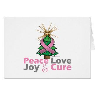 Amor, alegría y curación rosados de la paz del tarjeta de felicitación