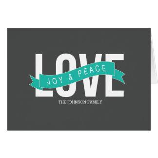 amor, alegría y paz tarjetas