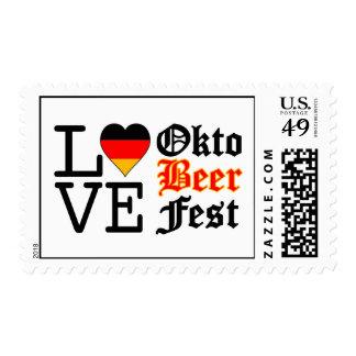 Amor alemán Oktoberfest del corazón Estampilla