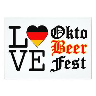 """Amor alemán Oktoberfest del corazón Invitación 5"""" X 7"""""""