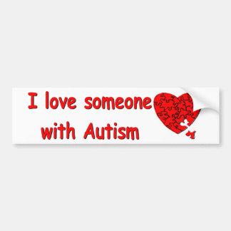 Amor alguien w/Autism Pegatina Para Auto