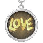 amor amarillo del oro joyería