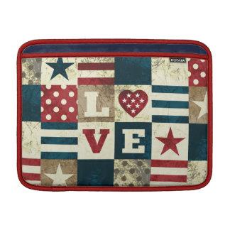 Amor América patriótica Funda MacBook