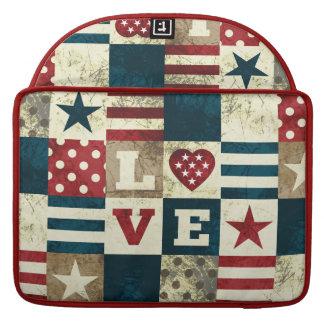 Amor América patriótica Fundas Macbook Pro