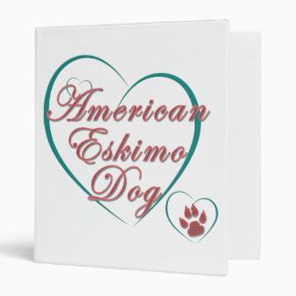 "Amor americano del perro esquimal carpeta 1"""