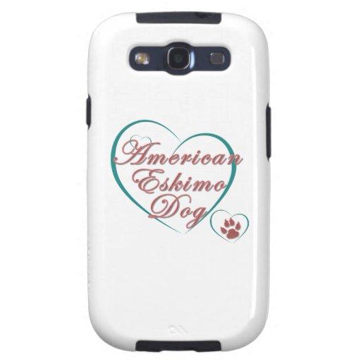 Amor americano del perro esquimal samsung galaxy s3 funda