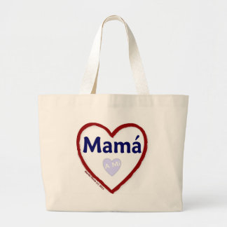 Amor - Amo una mamá del MI Bolsa Tela Grande