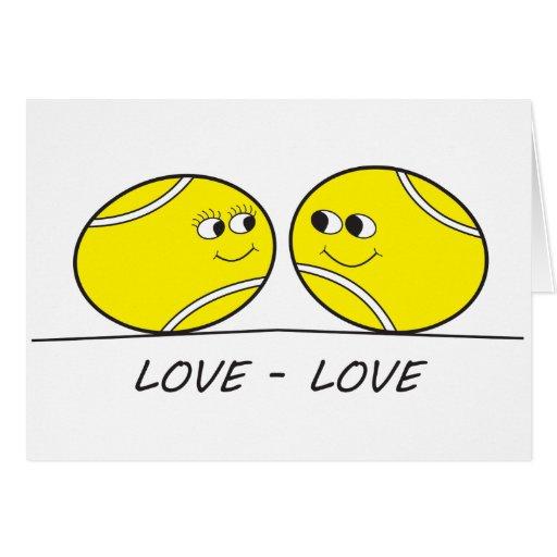 Amor-Amor del tenis Felicitaciones