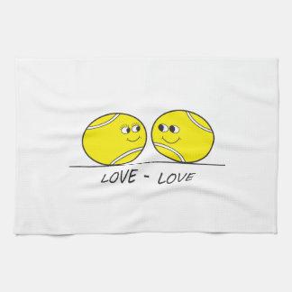 Amor-Amor del tenis Toallas De Cocina