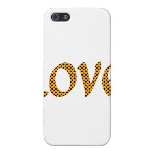 Amor anaranjado de Polkadot iPhone 5 Funda