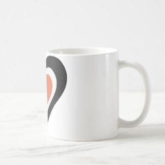 Amor anaranjado y negro taza