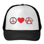 Amor Anarchy.jpg de la paz Gorra