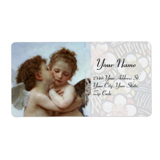 Amor and Psyche as Children Wedding Party Shipping Labels