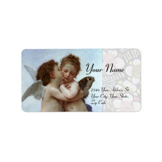 Amor and Psyche as Children Wedding Party Personalized Address Label