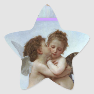 Amor and Psyche as Children Wedding Party Star Star Sticker