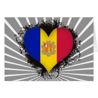 Amor Andorra del vintage I Felicitacion