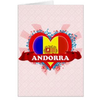 Amor Andorra del vintage I Tarjetas