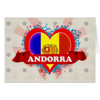 Amor Andorra del vintage I Tarjeta