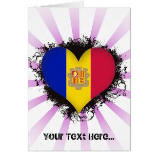 Amor Andorra del vintage I Felicitaciones