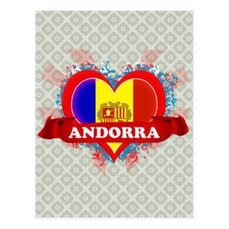 Amor Andorra del vintage I Postal
