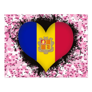 Amor Andorra del vintage I Tarjeta Postal