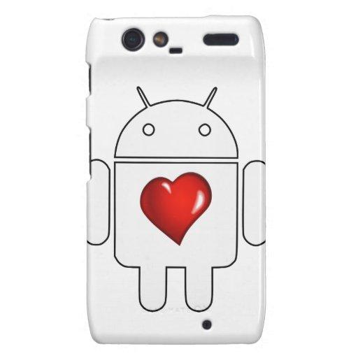 Amor androide droid RAZR carcasas