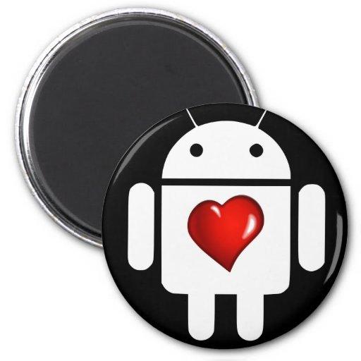 Amor androide imanes para frigoríficos