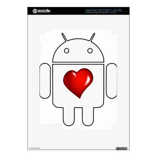 Amor androide iPad 3 pegatina skin