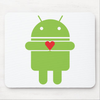 Amor androide alfombrilla de ratones