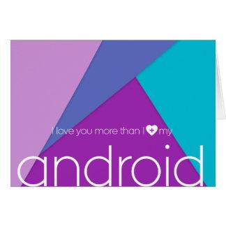 ¡Amor androide! tarjeta de felicitación con el