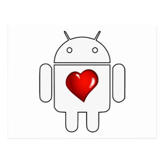Amor androide postal