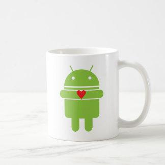 Amor androide tazas de café