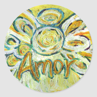 Amor Angel Inspirational Word Art Custom Stickers