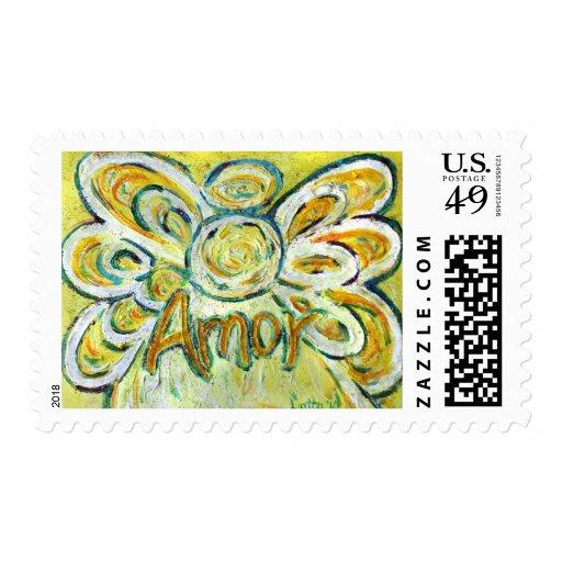 Amor Angel Postage Stamp