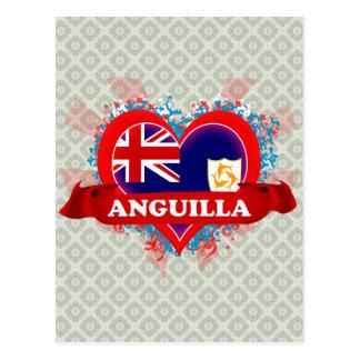 Amor Anguila del vintage I Postal