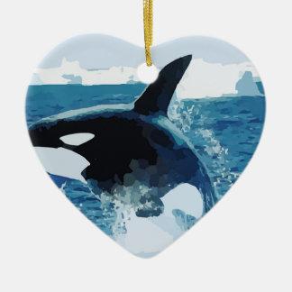 Amor animal de la paz de los pescados del océano d ornamentos de reyes